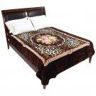 Brookwood Home Floral/Leopard Print Blanket