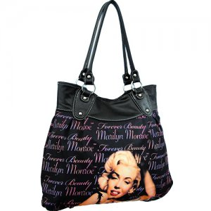 Marilyn Monroe Purse Mm96 Bk Sti Purses