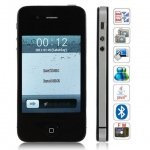F8 Quad Band Dual Cards with Java FM Touch Screen Cell Phone(Black)