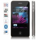 iqhonc NO.4 Quad Band Dual Cards with Java FM Touch Screen Cell Phone (Black)