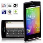A8000 Quad Band Dual Cards with Android 2.2 Wifi GPS Analog TV Touch Screen Smart Phone(Black)