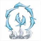 ROTATING BLUE DOLPHINS CIRCLE. only one left.