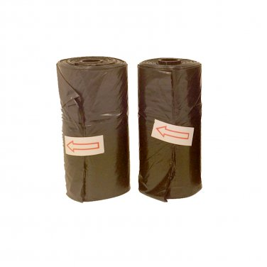2 Black Doggie Waste Bag Rolls