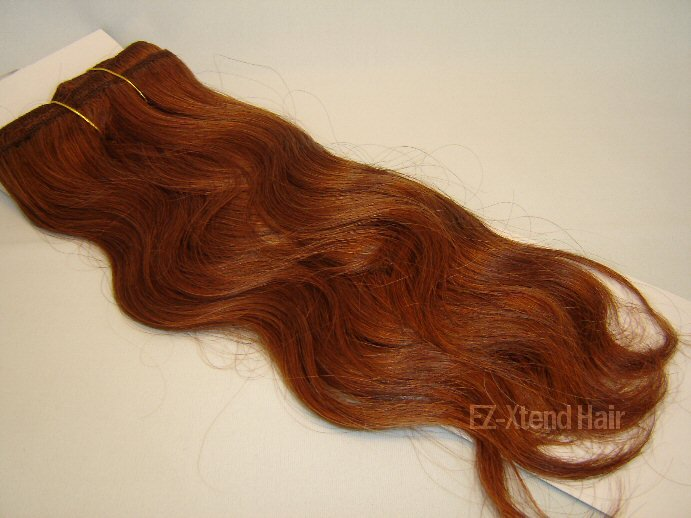 "100% Remy human hair clip on (Body wave 16"" #33)"