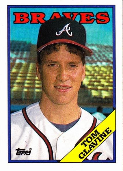 1988 Topps #779 Tom Glavine ROOKIE CARD Rc NM/MT Atlanta Braves FUTURE HOF
