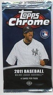 2011 Topps Chrome SEALED BASEBALL PACK From new box Rookie Autos ? HOBBY PACK