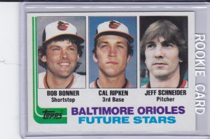 1982 Topps 21 Cal Ripken Jr Rookie Card Rc Nmmt Baltimore Orioles Hof