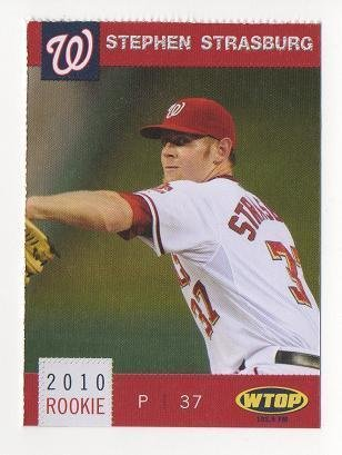 2010 Washington Nationals #22 Stephen Strasburg ROOKIE CARD Rc NM/MT #1 Overall Pick SCARCE SGA