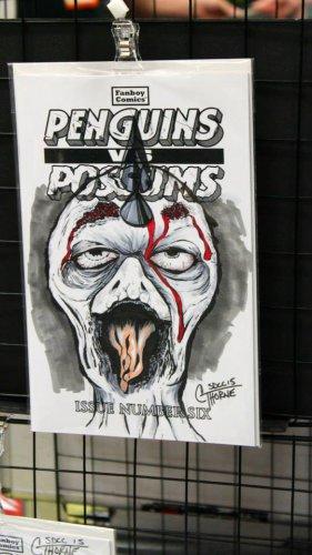 Penguins vs. Possums #6: Zombie Penguin Sketch Cover
