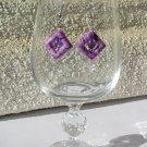 Puple Swirl Acrylic Earrings