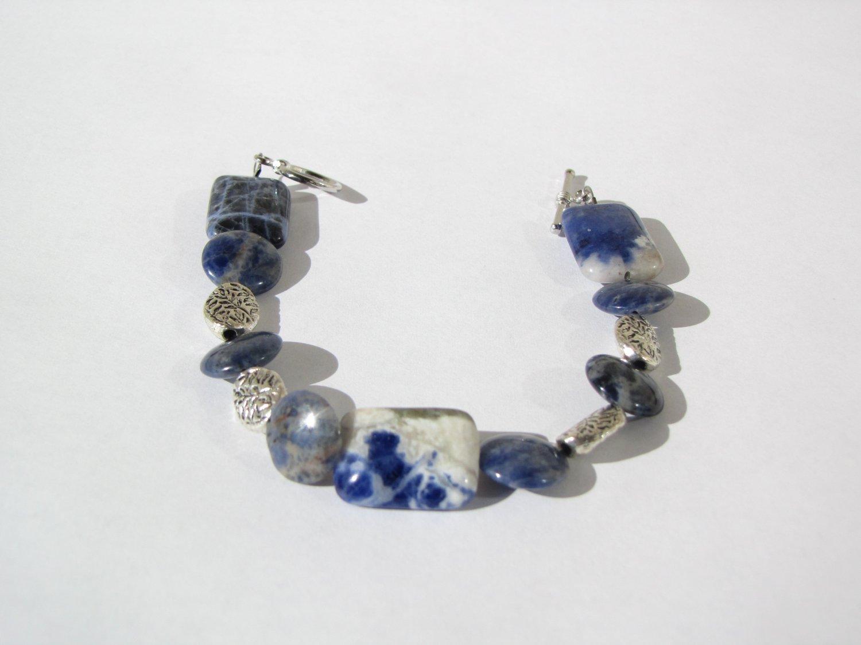 Blue Swirl Bracelet