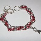 Breast Cancer Chain Bracelet