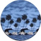 Tropical Print Fabric - Molokini (Blue)