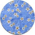 Plumeria - Floral Fabric (Blue)