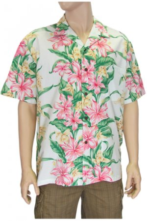 Hawaiian Shirts for Men- Hibiscus Panel  2XL