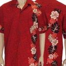 Laele - Men Boarder Shirt - Red  2XL - 4XL