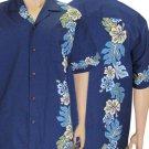 Border Shirt - Laele  Navy 2XL - 4XL