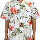 Ko Olina- Cotton Aloha Shirt - White  2XL - 4XL