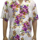 Men Shirts - Hibiscus Purpole Rayon