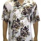 Men Shirts - Hibiscus Olive Rayon   2XL- 4XL