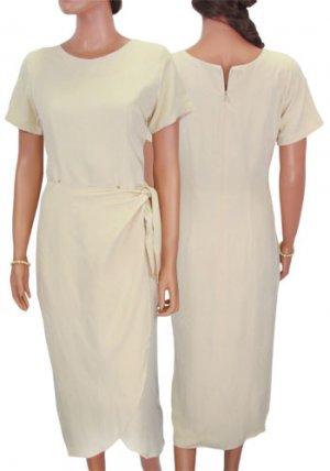 Khaki Silk Dress - Maoli