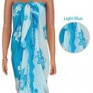Hawaiian Hibiscus Sarong - Light Blue