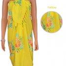 Aloha Hibiscus Sarong - Yellow