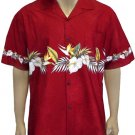 Hawaiian Anthuriums - Border Shirt 2XL