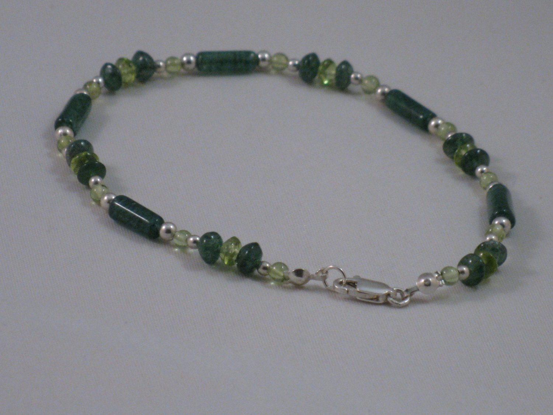 Peridot & Green Adventurine Bracelet - T177B