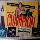 Champion 1949 Original Movie Poster Kirk Douglas Film Noir Priceless At Any Cost