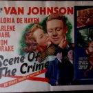 The Scene Of The Crime-Van Johnson-1949-Original 1/2 Sheet-Movie Poster