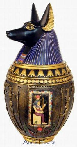 ANUBIS CERAMIC CANOPIC JAR (6355)