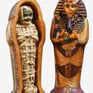 EGYPTIAN KING TUT COFFIN  with MUMMY FIGURINE (6124)