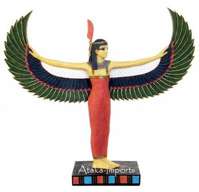 EGYPTIAN GODDESS MAAT STATUE  (6332)