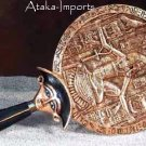 EGYPTIAN AEGIS HAND MIRROR -UNIQUE (5785)