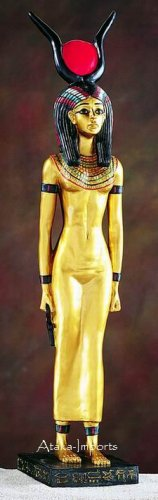 LARGE EGYPTIAN GODDESS ISIS STATUE (5278)