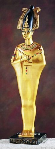 EGYPTIAN OSIRIS LARGE GOLDEN STATUE (5276s)