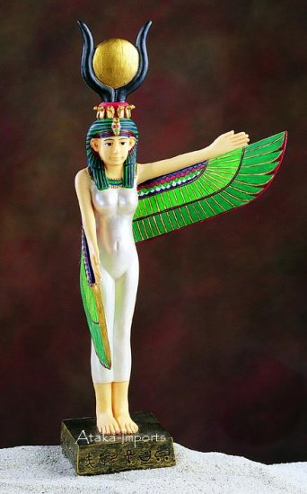 ISIS GODDESS STATUE-ANCIENT EGYPTIAN (5254)