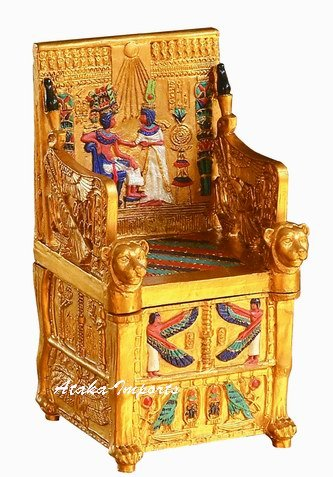 EGYPTIAN KING'S THRONE TRINKET BOX-NEAT (6134)
