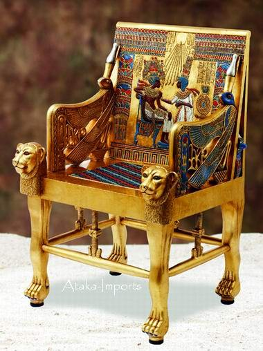 NEW LIFE SIZE EGYPTIAN KING'S THRONE (5907)