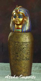 EGYPTIAN CANOPIC JAR-IMSETY-AMSET-SON OF HORUS (5318)