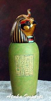 EGYPTIAN CANOPIC JAR-QEBSENUEF-SON OF HORUS (5317)