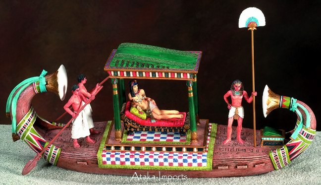 EGYPTIAN BOAT CLEOPATRA ON THE NILE (5829s)