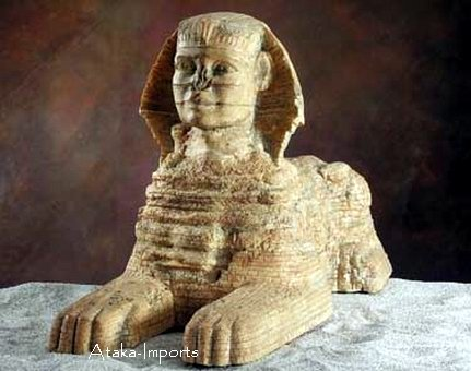 EGYPTIAN SPHINX STATUE -LARGE-FINEST (5309)
