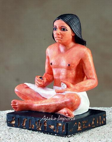 STATUE OF SCRIBE -ANCIENT EGYPTIAN  (5107s)