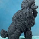 BLACK POODLE DOG FIGURINE-STATUE (5687s)