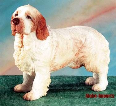 CLUMBER SPANIEL DOG FIGURINE (5152)