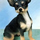 CHIHUAHUA (BLACK) DOG FIGURINE (4870s)