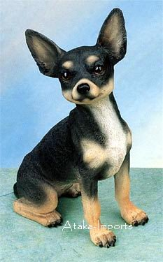 CHIHUAHUA (BLACK) DOG FIGURINE (4870s)