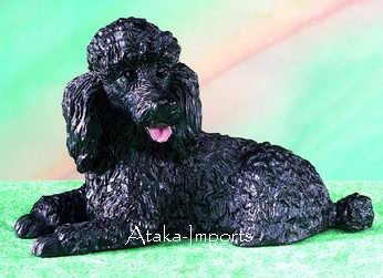 BLACK POODLE DOG FIGURINE (5129)